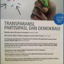 Jurnal 5 | TRANSPARANSI, PARTISIPASI, DAN DEMOKRASI
