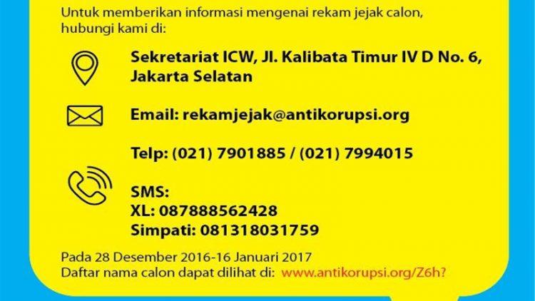 Laporkan Rekam Jejak Calon Anggota KPU dan Bawaslu 2017-2022