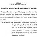 Putusan PTUN Jakarta No. 82/G/2020 yang Mengabulkan Gugatan Evi Novida Ginting terhadap Keputusan Presiden No.34/P Tahun 2020