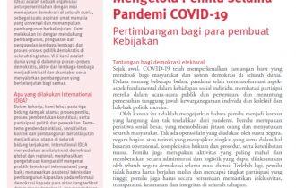 Mengelola Pemilu Selama Pandemi COVID-19