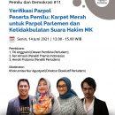 Materi Presentasi Serial Diskusi Pemilu dan Demokrasi #11