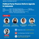 Presentation Material Political Party Finance Reform Agenda in Indonesia